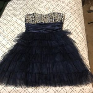 Homecoming dress(NAVY BLUE)